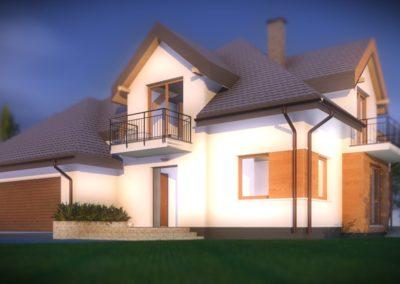 Projekt domu jednorodzinneg KL PROJEKT