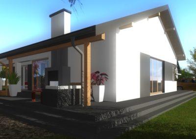 Projekt budynku jednorodzinnego mieszkalnego